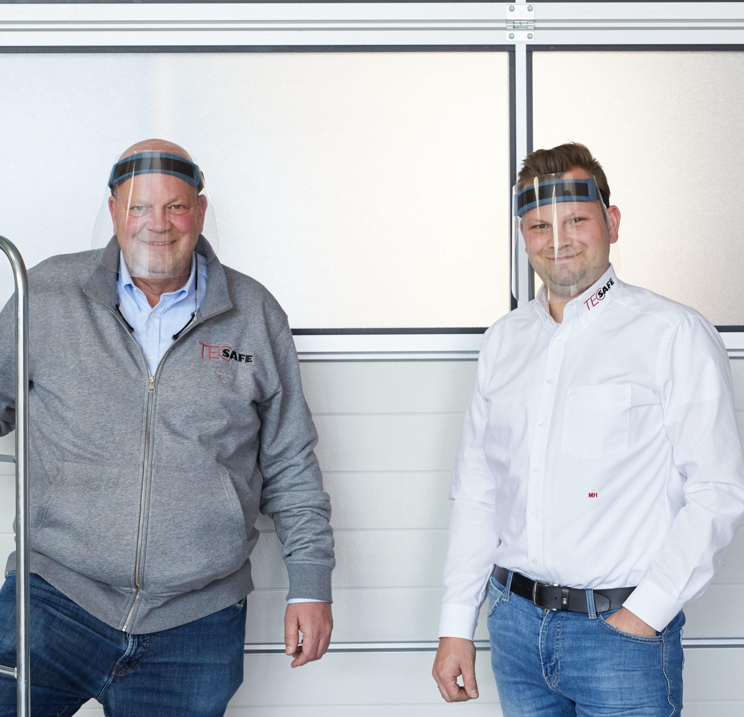Knut und Maximilian Hermes, Geschäftsführer der TECSAFE GmbH
